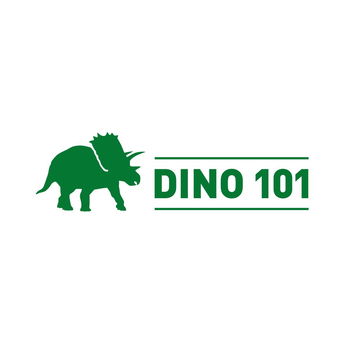 Dino 101 logo horizontal orientation