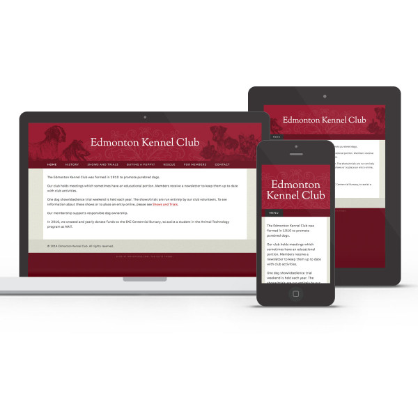 Edmonton Kennel Club responsive design