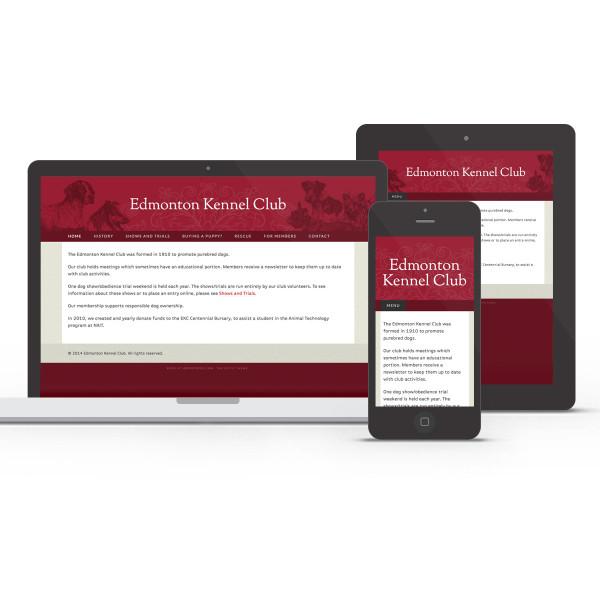 Edmonton Kennel Club responsive design