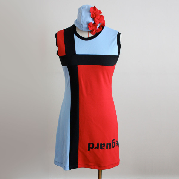 Splash! dress reconstructed from pool uniforms